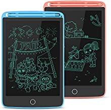 2 Pack LCD Writing Tablet, Electronic Drawing Writing Board, Erasable Drawing Doodle Pad, Toy for Kids Adults Learning & Education, 8.5IN(Blue+Pink)