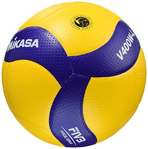 ミカサ(MIKASA) バレーボール 軽量4号 日本バレーボール協会検定球 小学生用 イエロー/ブルー V400W-L 推奨内圧0.3(kgf/?)
