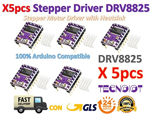 5pcs Stepstick DRV8825 Stepper Motor Driver Reprap RAMPS Replace A4988
