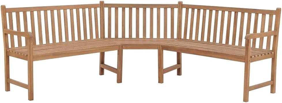ZAMAX Rustic Style Shipping included Ultra Large Milwaukee Mall Garden Weather Bench Corner Resi