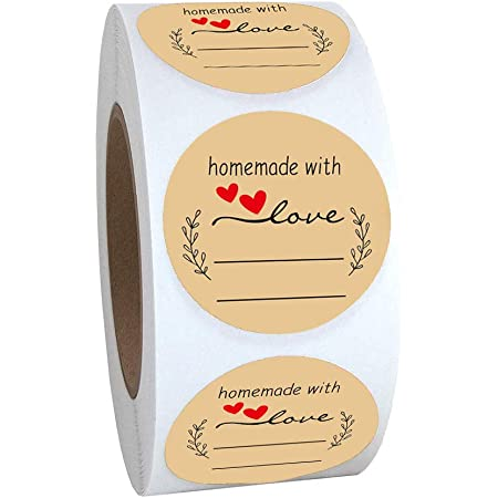 500Pcs Round Thank You For Supporting Handmade Food Gift Craft Labels Sticker ❤