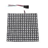 BTF-LIGHTING WS2812B Alambres de aleación ECO RGB 5050SMD Direccionable individual 16X16 256 píxeles Matriz de LED...
