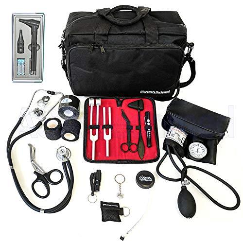 Black Nurse Starter Kit Stethoscope Blood Pressure Monitor and More - 18 Pieces Total | Amanda Wallen
