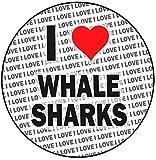 Decoración para tarta con diseño de tiburones con texto en inglés 'I Love Whale Sharks' (20 cm)