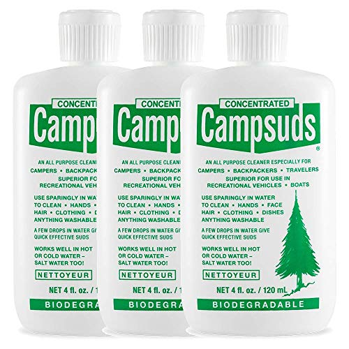 Sierra Dawn Campsuds Outdoor Soap Biodegradable Environmentally Safe All Purpose Cleaner, Camping Hiking Backpacking…