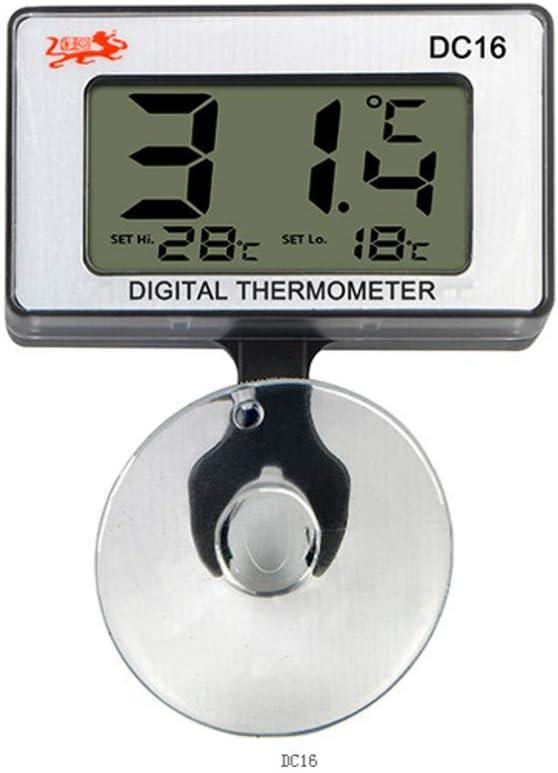 JZK Acuario termómetro Sumergible Digital con Ventosa medidor de Temperatura del Agua para Marina pecera vivero de Reptiles incubadora de Nevera