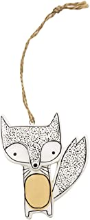 Chumbak Cute Fox Wall Décor – White and Yellow – Ceramic Wall Hanging,Home..