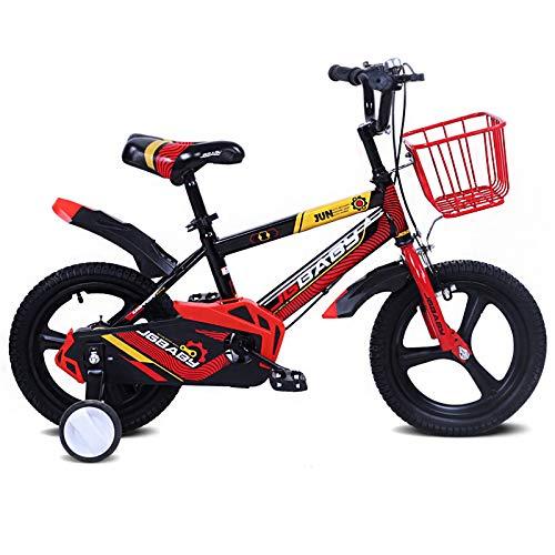 Bicicleta para Hombres Y Mujeres Cochecito De Bebé Bicicletas para Niños De 3 A 8 Años Equilibrio para Niños Altura De La Bicicleta Ajustable Montar Scooter con Ruedas De Entrenamiento,16'