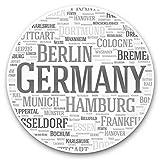 Impresionante pegatinas de vinilo (juego de 2) 10 cm (bw) – Pegatinas de Alemania para portátiles, tabletas, equipaje, libros de chatarra, frigorífico, regalo genial #36393