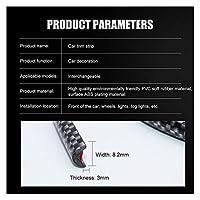 STORY 4m / 8mカーのスタイリングバンパー成形トリムストリップホイールハブ衝撃保護グリルカーボンファイバー装飾ストリップカーアクセサリー (Color : 4m Carbon fiber)