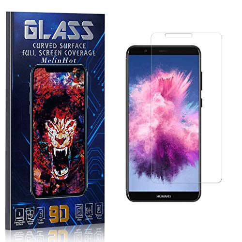 MelinHot Displayschutzfolie für Huawei Enjoy 7S, Anti Fingerabdruck, Ultra Dünn Blasenfrei Schutzfolie aus Gehärtetem Glas für Huawei Enjoy 7S, 3 Stück