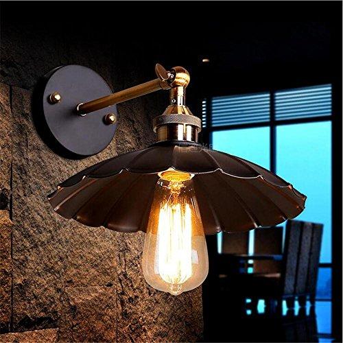 NIHE lampe de mur feuille de lotus rétro Industrial fer chambre restaurant Cafe lampe de chevet LED