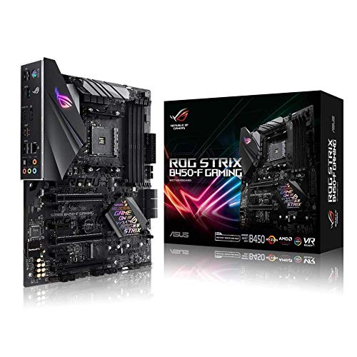 ASUS ROG STRIX B450-F GAMING - ROG STRIX B450-F GAMING - moederbord - ATX - Socket AM4 - AMD B450 - USB 3.1 Gen 1, USB 3.1 Gen 2 - Gigabit LAN - onboard graphics (CPU vereist) - HD audio (8-kanaal)