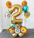 Globos del Partido Globos de animales Conjunto globo de látex cromo metálico 30 pulgadas fiesta de cumpleaños Número de Oro Globos Niños Decoración decoración ( Color : 18pcs , Shape : Number 3 )