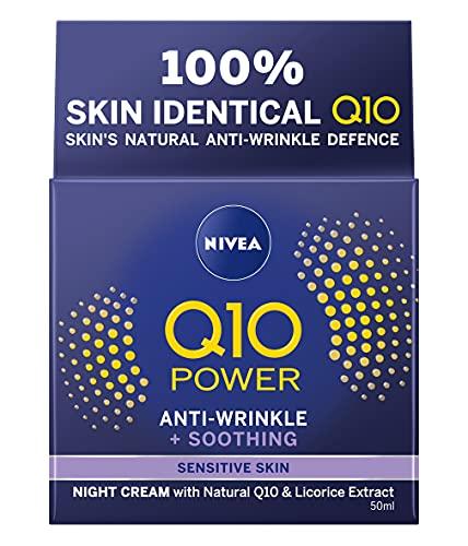 NIVEA Q10 Power Sensitive Night Cream (50 ml), Night Cream for Women,...