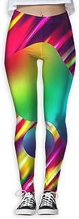 Womens Gradient Ping Pong Ball Thin Tight Athletic Yoga Pants Leggings