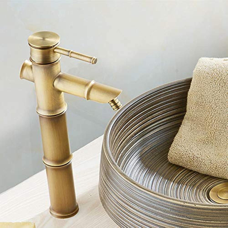 Ayhuir Europische Badezimmer Waschbecken Becken Wasserhahn Bambus Stil Waschbecken Vintage Mischbatterien Antik Messing Wasserhahn Hei Und Kalt