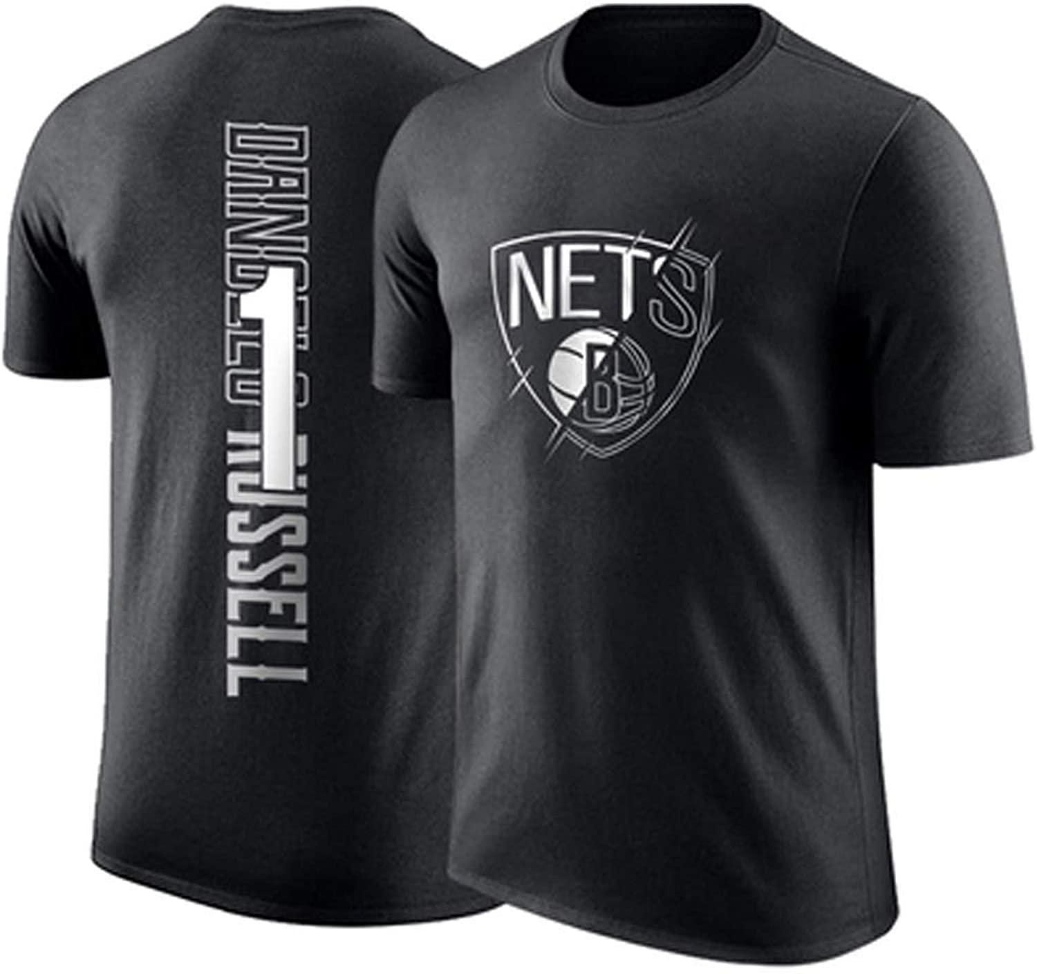 Nets Russell Jersey ShortSleeved TShirt Round Neck Cotton Basketball Training Suit SweatAbsorbent Breathable CHENGGONG