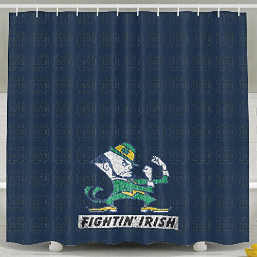 iwkulad NCAA Notre Dame Fighting Irish logotipo personalizado cortinas de ducha