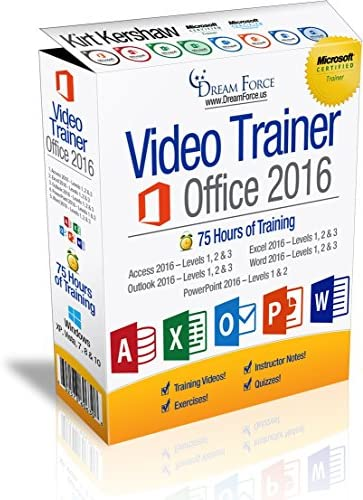Office 2016 Training Videos 75 Hours of Office 2016 training by Microsoft Office Specialist product image