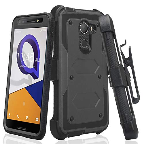 Jitterbug Smart 2 Case Belt Clip Holster[GW USA] Shock Proof Dual Layer Hard Case w/ [Built in Screen Protector] Full Body Protection Phone Case - Black