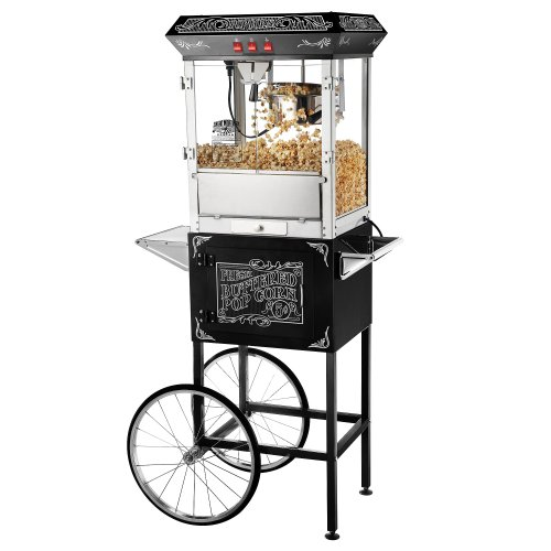 Best Review Of Great Northern Popcorn Old Time Popcorn Popper Machine with Cart, 8-Ounce, Black (613...
