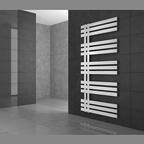 Radiador de Diseño Radiador Toallero Radiador de Calefacción 500 x 1400 Blanco - Radiador toallero agua calefaccion - Calentador de baño - Calefaccion de pared - No eléctrico -
