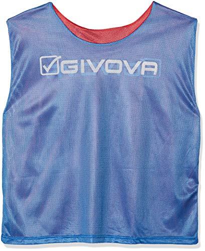 Givova Double, Casacca Sportiva Uomo, Multicolore (Rosso/Blu), XL