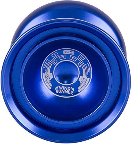 Duncan Toys Windrunner Yo-Yo [Blue] - Unresponsive Pro Level Aluminum Yo-Yo with Double Rim, Concave Bearing, SG Sticker Response