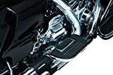 Kuryakyn 4351 Motorcycle Foot Control Component: Premium Folding Boards for Driver or Passenger Floorboards, Chrome, 1 Pair