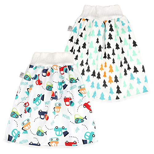 FLYISH DIRECT Baby Trainingshose High Waist Cotton Sleepy Windelhose Urinpolster Klimmzüge Lernhose Potty Underwear Windelunterwäsche 2 Stück, 0-4 Jahre, M