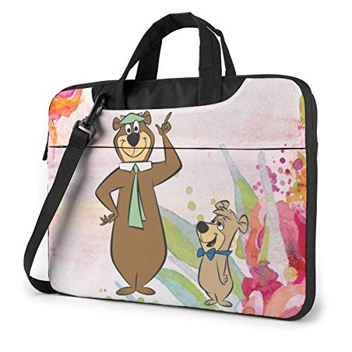 Laptop Bag, Yogi Bear and Boo Boo Shockproof Lightweight Satche Shoulder Bag with Strap forOffice Business Computer