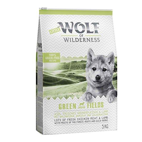 Wolf of Wilderness Green Fields Junior Trockenfutter für Hunde, mit Lamm und Huhn, 5 kg