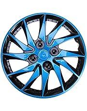 Veemoon 1 Pieza Cubiertas de Rueda de Tapacubos Universales Plateadas Cubiertas de Llantas de Neumáticos de Automóviles Cubierta de Piel de Llantas de Ruedas de Vehículos de Automóviles de