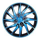 Veemoon Cubiertas de Rueda de Tapacubos Universales Azules Cubiertas de Llantas de Neumáticos de Automóviles Cubierta de Piel de Llantas de Ruedas de Vehículos de Automóviles de Reemplazo