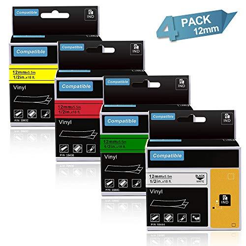 Office Plus Serie Drucker Schriftband für Dymo 45017 Schwarze Schrift auf Rot