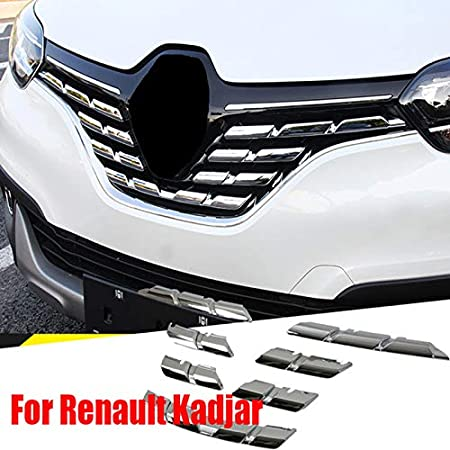 Für Kadjar 2015 2016 2017 Abs Chrom Front Head Light Lamp Verkleidung 2 Auto