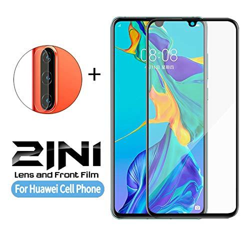 KDLLK Para Huawei Honor 10 10i 20 P10 P20 P30 Pro Plus Lite 2 en 1 Lente de cámara Protector de Pantalla Templado Vidrio