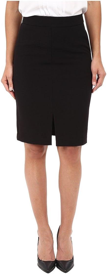 kensie Women's Stretch Crepe Pencil Skirt