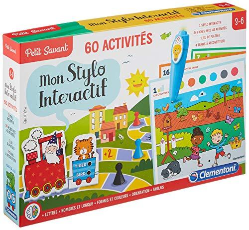 Clementoni -52011 - Mon Stylo parlant - 60 activités-Jeu éducatif