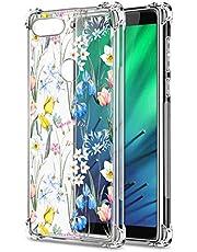 Oihxse Cristal Compatible con Huawei Honor 20 Pro Funda Transparente TPU Silicona Estuche Airbag Esquinas Anti-Choque Anti Rasguños Diseño Rosa Flower Caso (Flores A1)
