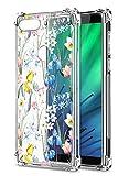 Oihxse Cristal Compatible con Samsung Galaxy J2 Prime/G532/G530 Funda Transparente TPU Silicona Estuche Airbag Esquinas Anti-Choque Anti Rasguños Diseño Rosa Flower Caso (Flores A1)