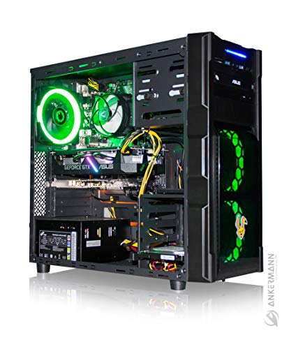 Ankermann Rabbit Gaming Gamer PC Intel i5-9400F 6X 2.90GHz ASUS Prime NVIDIA GeForce GTX 1660 SUPER OC 6GB 16GB RAM 480GB SSD 1TB HDD Windows 10 PRO W-LAN Office Professional