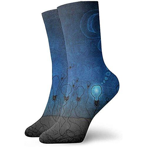 Preisvergleich Produktbild Tammy Jear Abstrakte Glühbirne Kunst Illustration Erwachsene kurze Socken Nette Socken