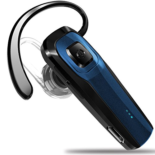 Masentek M26 Bluetooth Headset V4.1 Cordless Handsfree Blue Earpiece w/Noise Cancelling Mic for iPhone 7 Plus 6s 5s SE iPad Samsung Galaxy S7 Edge S6 S5 Note5 4 LG G5 V10 Motorola HTC Android Device