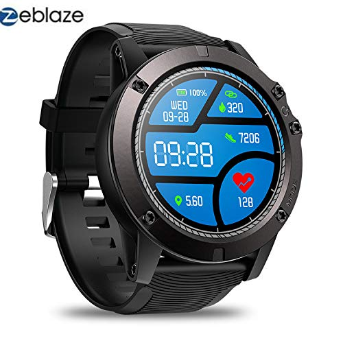 Zeblaze Vibe 3 PRO - Colorful Touch Display Sports Fitness Tracker Heart Rate IP67 Waterproof Rugged Military Remote Music Fitness Activity Wristband Smartwatch for iOS & Android(Black)