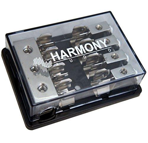 Harmony Audio HA-AGUFD4 Car Stereo 3-Way AGU Fused Distribution Block (3) 4GA in - (4) 8GA Out