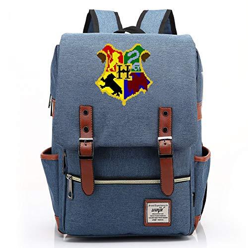 MMZ Mochilas Unisex, Mochilas temáticas de Hogwarts, Mochilas Escolares de Gran Capacidad para escuelas primarias y secundarias 43X29X13.5CM Azul