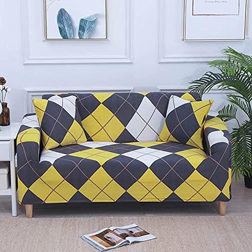 WXQY Funda de sofá Estampada Funda de sofá elástica Funda de sofá Cama Funda Protectora de Muebles a Prueba de Mascotas A14 1 Plaza