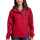 Cherrybrook Dog Breed Embroidered Ladies Rain Jackets - Small - Radish and Steel Gray - Curly Coated Retriever